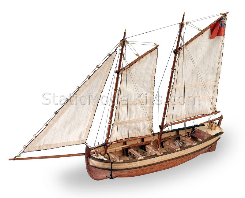 Ship model kit Endeavour's longboat, Artesania Latina