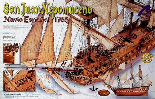 Artesania Latina S J Nepomuceno 1 90 Ship Model Kit