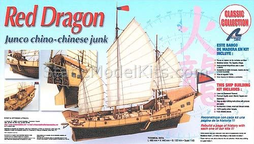 Ship model kit Red Dragon, Artesania Latina