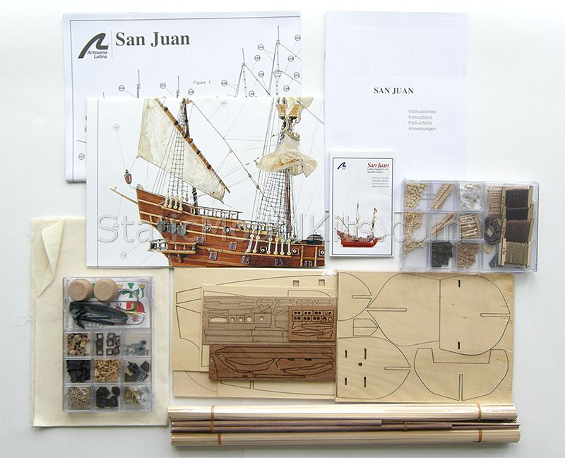 Ship model kit San Juan, Artesania Latina