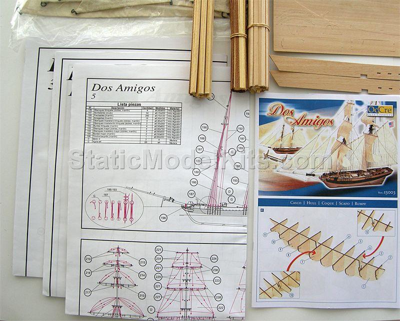 Ship model kit Dos Amigos, Occre