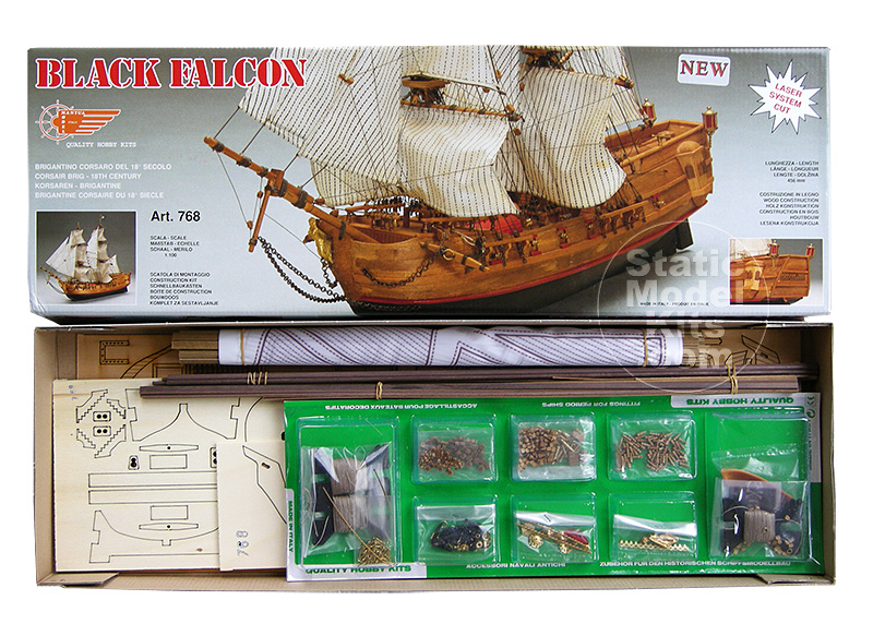 Black Falcon - ship model kit Mantua